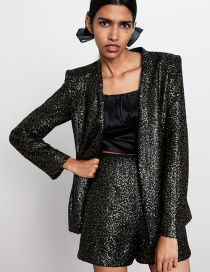 Fashion Color Sequined Blazer