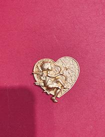 Broche De Amor Cupido En Relieve