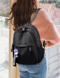 Fashion Black Oxford Cloth Stitched Backpack