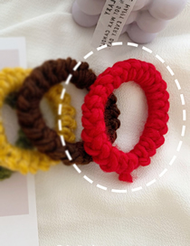 Fashion Red Hand Knitted Wool Hair Rope