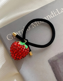 Fashion Red Strawberry Hairline With Diamonds