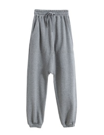 Fashion Gray Lace-up Trousers