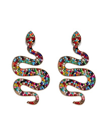 Fashion Color Geometric Bead Stud Earrings