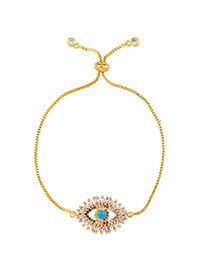 Fashion Golden Adjustable Bracelet With Diamond Eye Drops