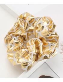 Fashion Yellow Scale Pattern Shiny Cloth Large Bowel Hair Rope