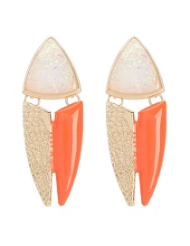 Fashion White Multilayer Alloy Drip Oleoresin Fish-shaped Geometric Earrings