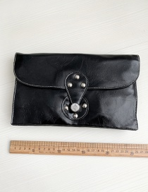 Fashion Black Pu Square Clutch
