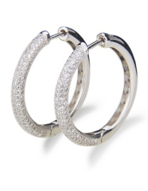 Fashion Platinum-plated Electroplated Zirconium Cutout Round Earrings
