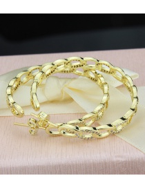 Fashion Gold-plated Copper Plating Diamond Chain Earrings