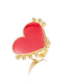 Fashion Red Dripping Love Open Ring