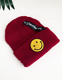 Fashion Red Smile Knitted Hats For Children
