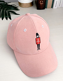 Fashion Orange Pink Canvas Adult Peaked Cap