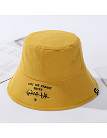 Fashion Yellow Foldable Hat Embroidered Letters
