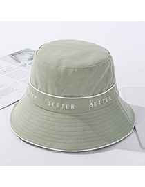 Fashion Aqua Green Hemming Letter Embroidery Hat