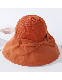 Fashion Orange Bow Tiered Fisherman Hat