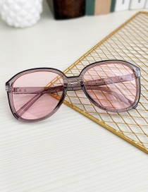Fashion Pink + Gray Resin Pc Toad Sunglasses