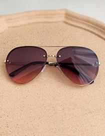 Fashion Crimson Alloy Pc Toad Sunglasses