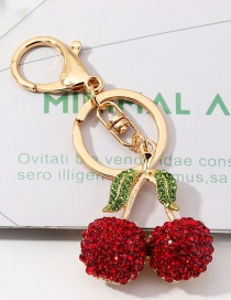 Fashion Red Cherry Keychain Alloy Pendant Jewelry