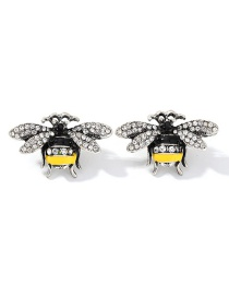 Fashion Yellow Alloy Dripping Bee Earrings
