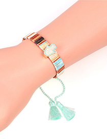Fashion Blue Tassel Micro-studded Palm Bracelet