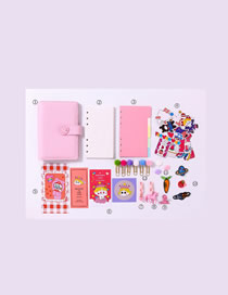 Fashion Ordinary Suit Pink Checkered Loose-leaf Notebook Stickers Sticky Note Set