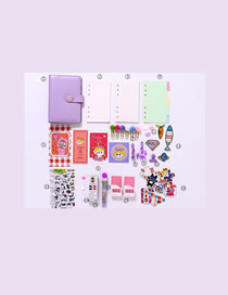 Fashion Luxury Suit Purple Checkered Loose-leaf Notebook Stickers Sticky Note Set