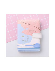 Fashion Japanese Cherry Blossom Snap Cherry Blossom Portable Notebook