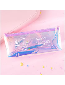 Fashion Moon Laser Moon Transparent Pencil Case