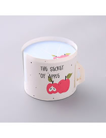 Fashion White Apple Letter Cup Shape Notepad