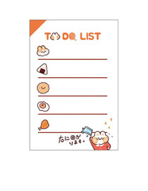 Fashion Todo List Animal Mitt Cat Non-sticky Tearable Note Pad