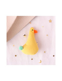 Fashion Little Yellow Duck Little Yellow Duck Plush Embroidery Brooch