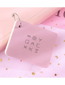 Fashion Medium (pink) Iron Ring Portable Tearable Note Pad