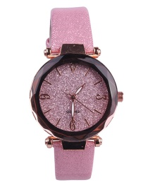 Fashion Pink Starry Sky Quartz Watch