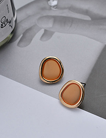 Fashion Golden S925 Silver Pin Geometric Transparent Earrings