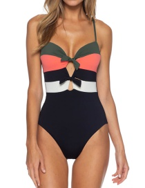 Fashion Black One-piece Swimsuit With Chest Straps