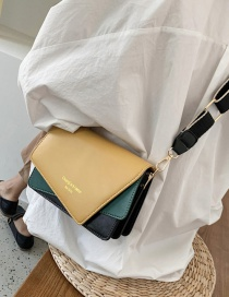 Fashion Yellow Contrast Wide Shoulder Strap Shoulder Bag