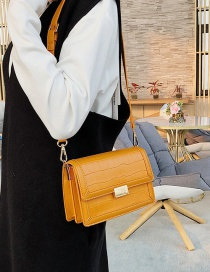 Fashion Orange Stone Shoulder Crossbody Bag