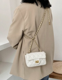 Fashion White Diamond Chain Shoulder Bag