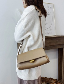 Fashion Khaki Locked Shoulder Cross Body Bag