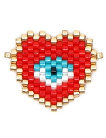 Fashion Red Mizhu Weaving Love Eye Accessories