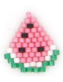 Fashion Pink Watermelon Rice Beads Woven Accessories Fruit Pattern Accessories