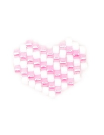 Fashion Pink + White Mizhu Weaving Rainbow Love Series Accessories