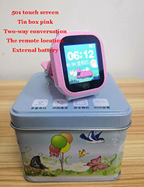 Fashion 501 Touch Screen (pink) Tin Box 1.44 Waterproof Smart Phone Watch With Touch Screen