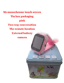 Fashion M1 Monochrome Touch Screen + Iron Box + Camera (pink) 1.44 Waterproof Smart Phone Watch With Touch Screen