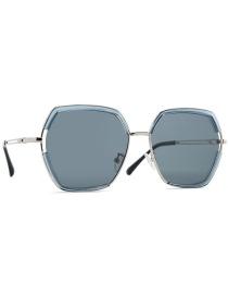 Fashion Silver Frame / Transparent Blue Frame / Light Gray Polarized Frame Tac1.1 Polarized Sunglasses