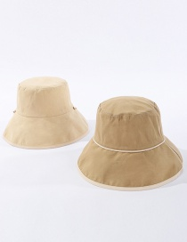 Fashion Khaki Cotton Reversible Fisherman Hat