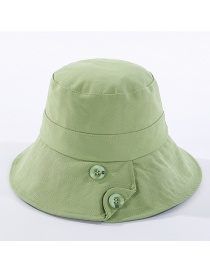 Fashion Green Cotton Button Car Line Shade Fisherman Hat