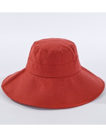 Fashion Brick Red Light Board Big Eaves Sunscreen Fisherman Hat