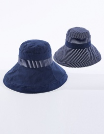 Fashion Navy Double-sided Striped Fisherman Hat