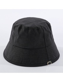 Fashion Black Fisherman Hat In Solid Color
